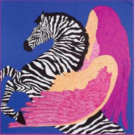 Emilie Scarves Sjaal Zijden blend 130*130CM paars - Pegasus - Giftbox
