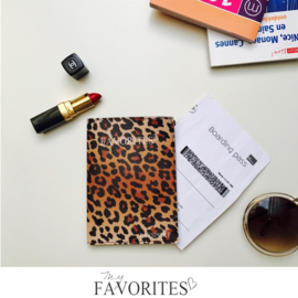 Paspoort hoesje - houder - etui panterprint luipaard print dessin - paspoorthoesje