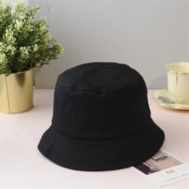 Vissershoed - bucket hat - katoen - zwart