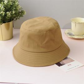 Vissershoed - bucket hat - katoen - beige