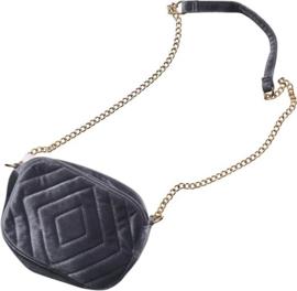 Dames tas - schoudertas - Fluweel - chique - grijs
