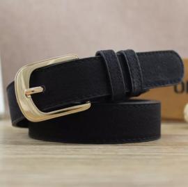 Perfect basic riem zwart