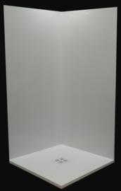 Saetfix blinkend wit geplooid