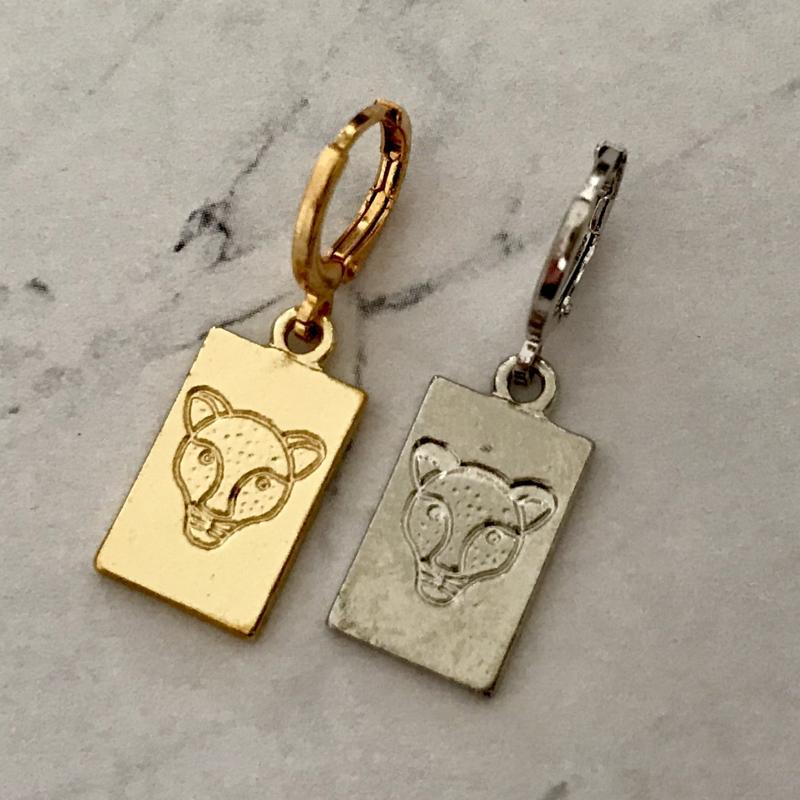 Earring Leopard Coin