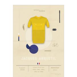 Poster wielrennen - Anquetil