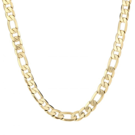 Big shine chain necklace - gold