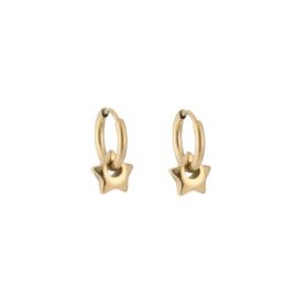 Mini star earring - gold