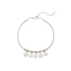 Five coins lila bracelet
