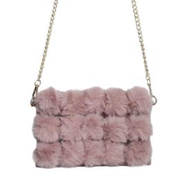 Fluffy schoudertas - roze
