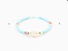 Surf shell bracelet - blue