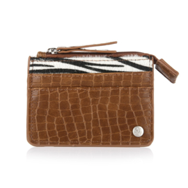Zebra cardholder - brown