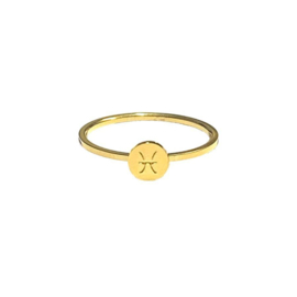 Zodiac signs ring Vissen - gold