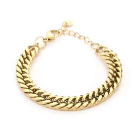 Basic large chain bracelet - gold