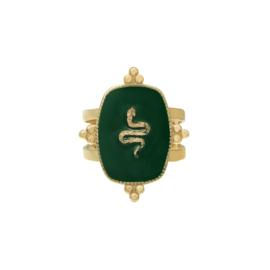 Green snake ring