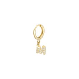 Initial earring M