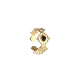 Black elegance ring - gold