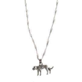 Leopard silver necklace