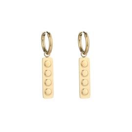 Log earring - gold