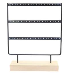Jewelry display 3-row black