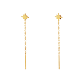 Necklace star earring - gold