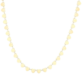 Heart heart heart necklace - gold