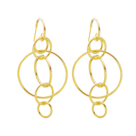 Circles statement earring