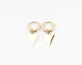 Triangle earring - gold