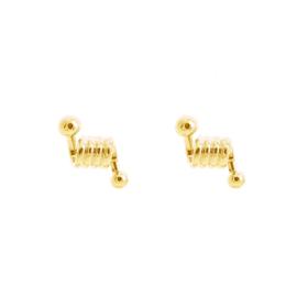 Twisted stud earring