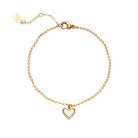 Quote 'Be kind' bracelet - gold