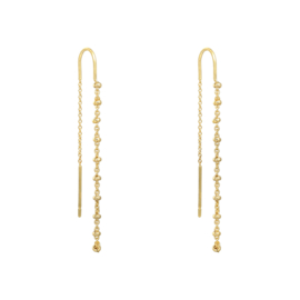 Dangle earrings - little dots gold