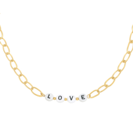 Love letter necklace - gold