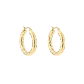 Round hoop earring - gold