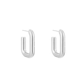 Square hoop earring