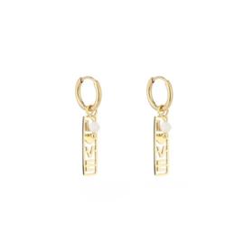 Long love earring - gold