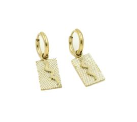 Snake charm earring - gold