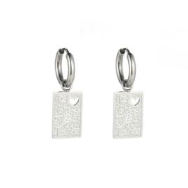 Double love earring