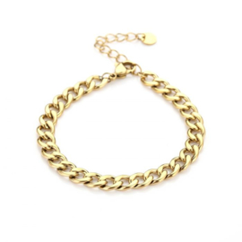 Basic middle chain bracelet - gold