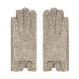 Teddy handschoenen beige