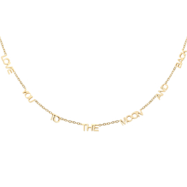Love you to the moon and back necklace - gold