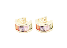 Multicolor sayle earring - gold