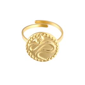 Vintage snake ring - gold
