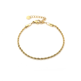 Small twisted bracelet - gold