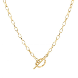 Chain lock necklace - gold
