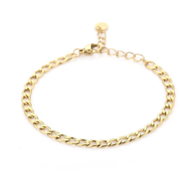 Basic small chain bracelet - gold