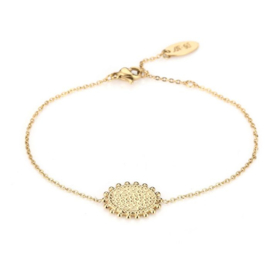 Round leopard bracelet - gold