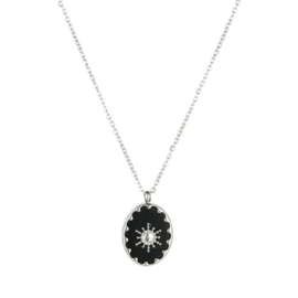 Sun black necklace