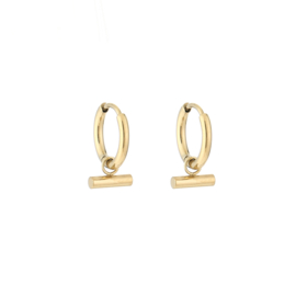 Stick earring - gold
