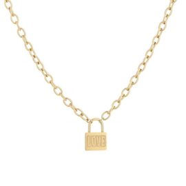 Love chain necklace - gold