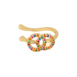 Multicolor double earcuff