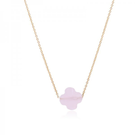 Pink clover necklace